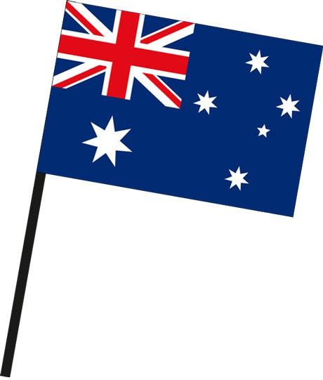 Australien als Stockfahne