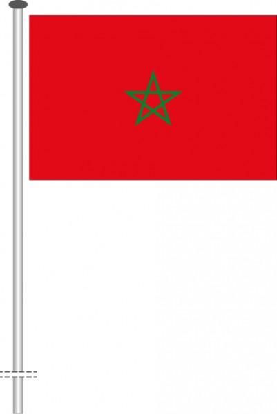 Marokko als Querformatfahne
