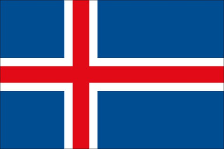 Island als Fanfahne