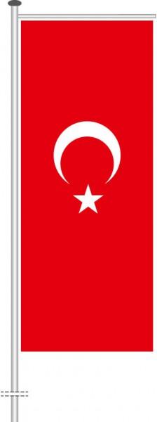Türkei als Auslegerfahne