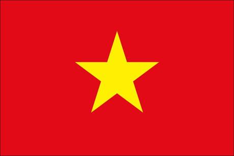 Vietnam als Fanfahne