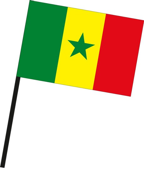 Senegal als Stockfahne