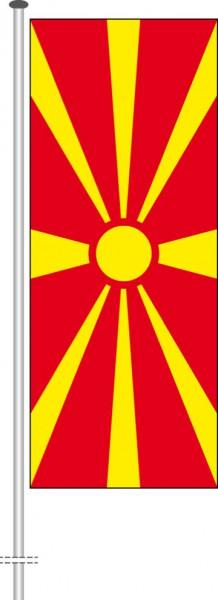 Mazedonien als Hochformatfahne