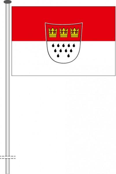 Köln mit Wappen als Querformatfahne