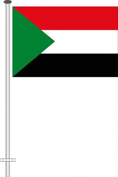 Sudan als Querformatfahne