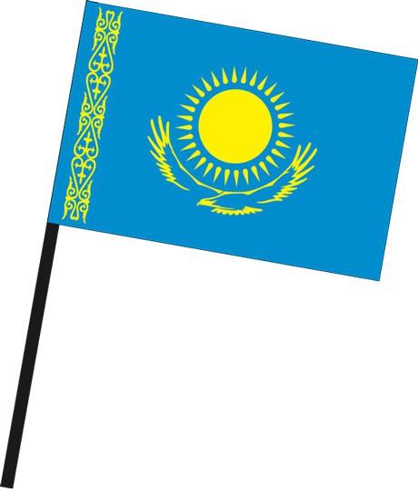 Kasachstan als Stockfahne