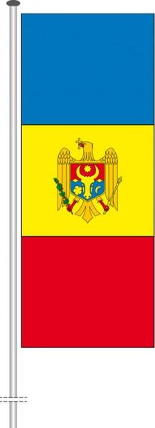 Moldawien als Hochformatfahne