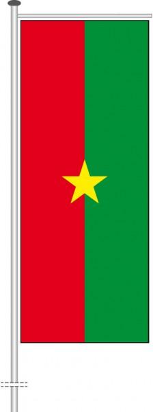 Burkina Faso als Auslegerfahne