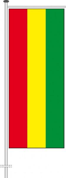 Bolivien als Auslegerfahne