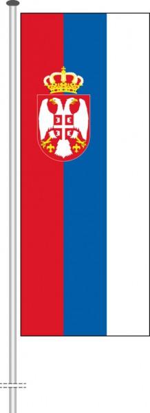 Serbien als Hochformatfahne