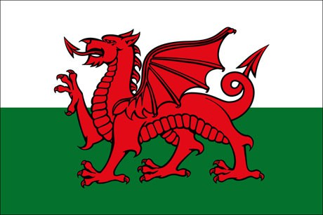Wales als Fanfahne