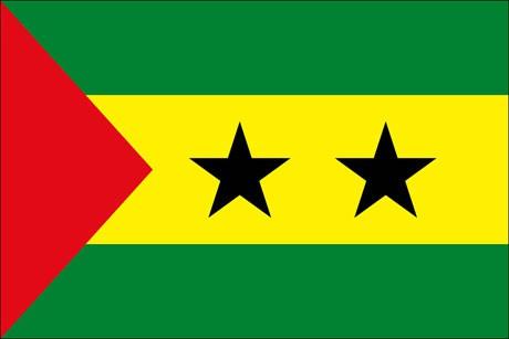 Sao Tome und Principe als Fanfahne