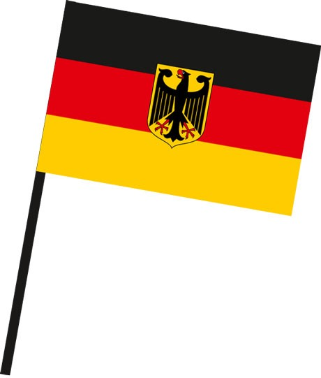 Bundeswappenflagge als Stockfahne