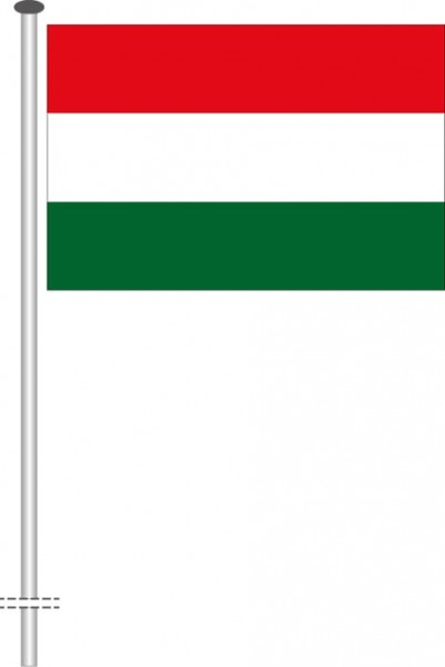 Ungarn als Querformatfahne