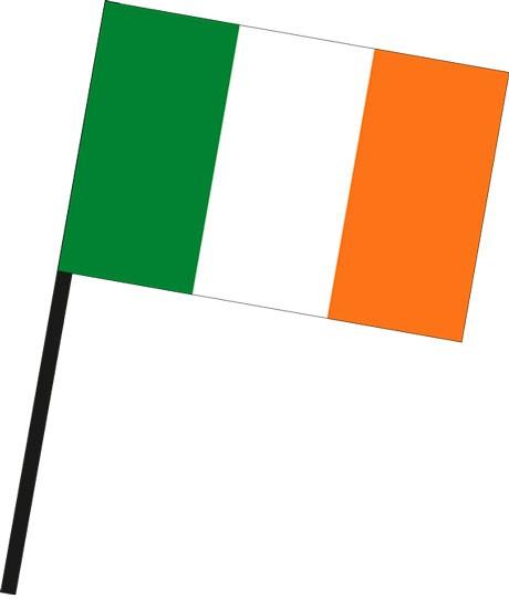 Irland als Stockfahne