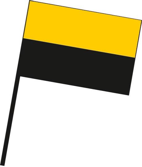 Sachsen-Anhalt - Streifenflagge als Stockfahne