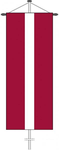 Lettland als Bannerfahne