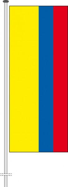 Kolumbien als Hochformatfahne