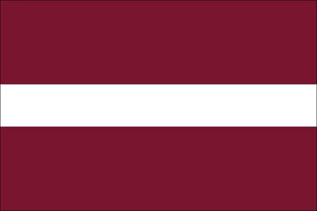 Lettland als Fanfahne