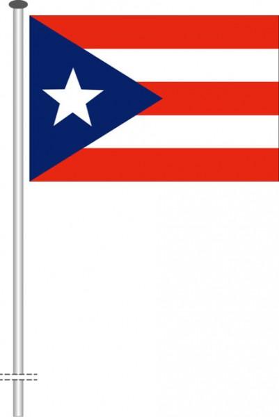 Puerto Rico als Querformatfahne