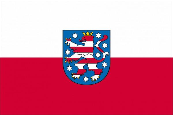Thüringen als Fanfahne