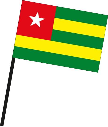 Togo als Stockfahne