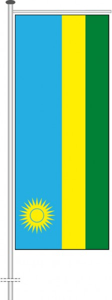Ruanda als Auslegerfahne