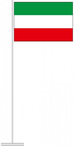 Nordrhein-Westfalen - Streifenflagge als Tischfahne