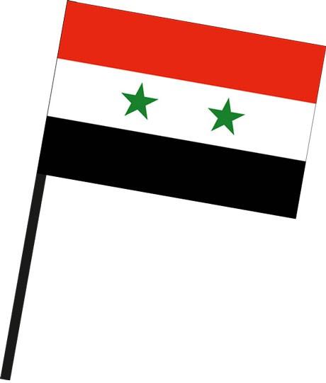Syrien als Stockfahne