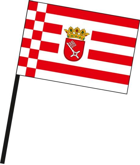 Bremen - Dienstflagge als Stockfahne