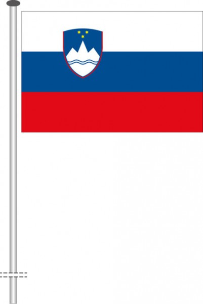 Slowenien als Querformatfahne