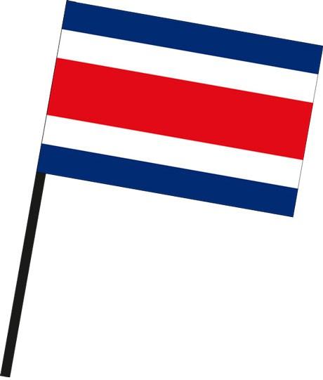 Costa Rica als Stockfahne