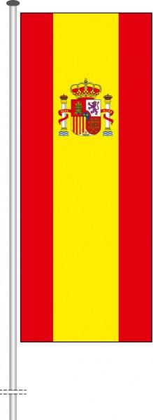 Spanien als Hochformatfahne