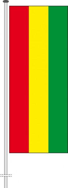 Bolivien als Hochformatfahne