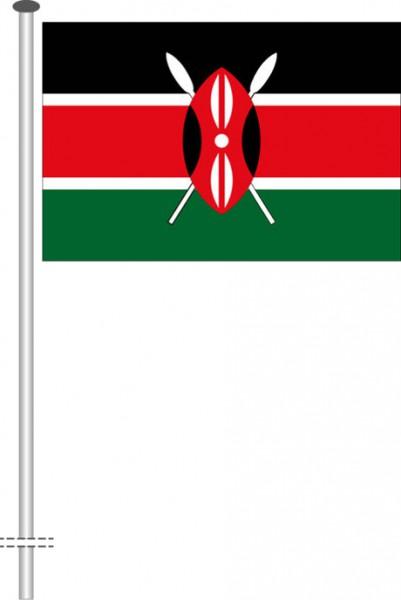 Kenia als Querformatfahne
