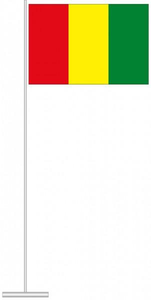 Guinea als Tischfahne