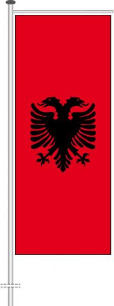 Albanien als Auslegerfahne