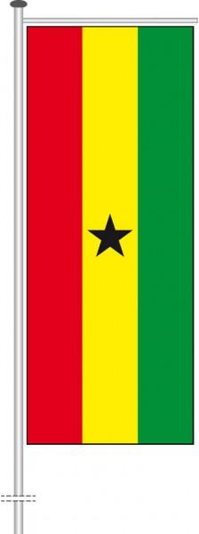 Ghana als Auslegerfahne