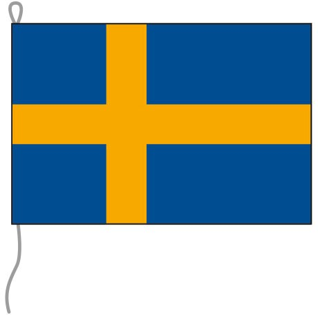 Schweden als Bootsfahne