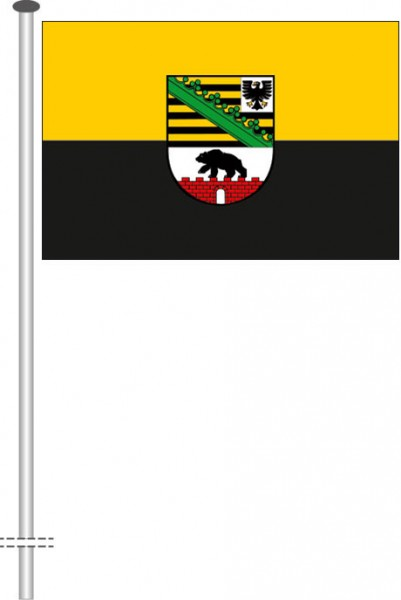 Sachsen-Anhalt - Dienstflagge als Querformatfahne