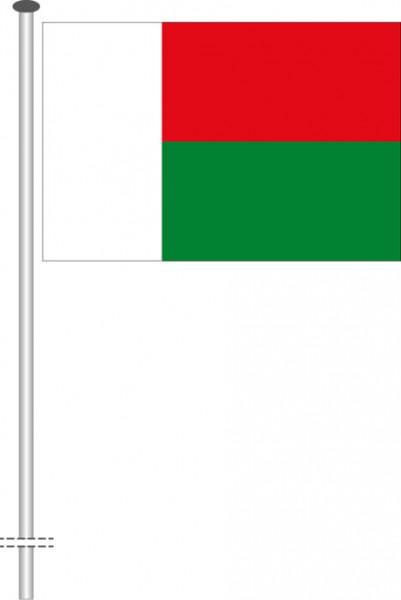 Madagaskar als Querformatfahne