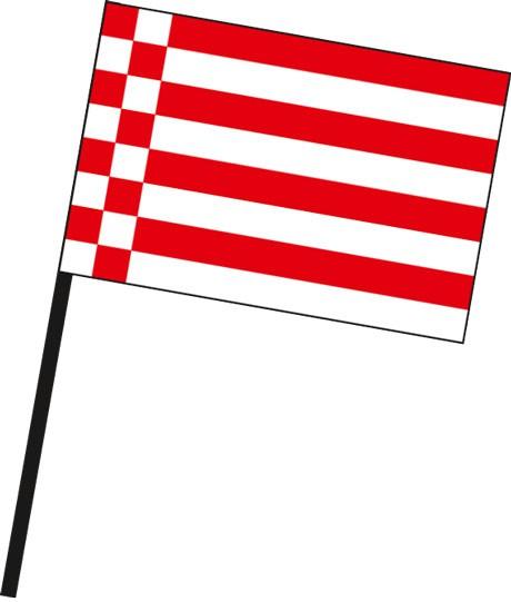 Bremen - Streifenflagge als Stockfahne