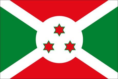 Burundi als Fanfahne