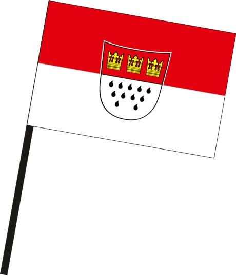 Köln mit Wappen als Stockfahne