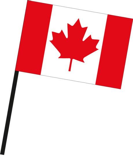 Kanada als Stockfahne