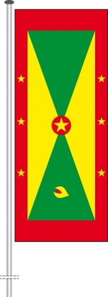 Grenada als Hochformatfahne