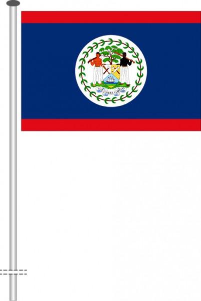 Belize als Querformatfahne