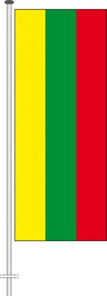 Litauen als Hochformatfahne
