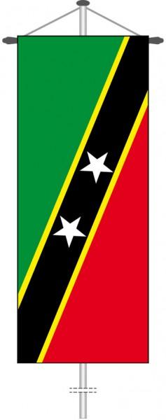 St. Kitts und Nevis als Bannerfahne