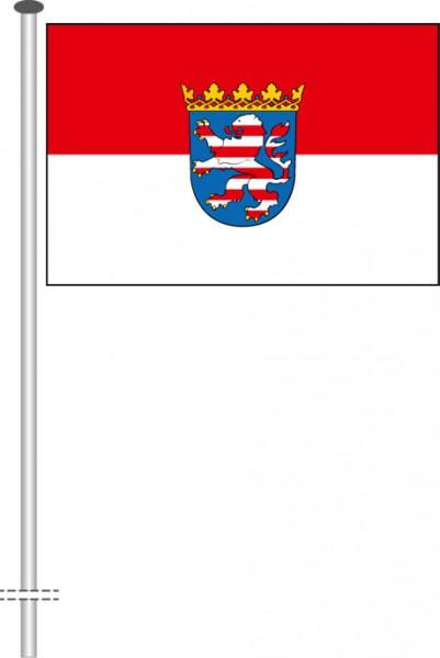 Hessen - Dienstflagge als Querformatfahne